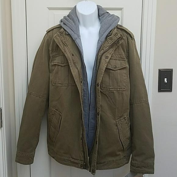9379220878af Levis dark khaki hooded jacket
